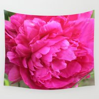 peony Wall Tapestries featuring Peony by Stecker Photographie