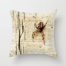 Spider Letter Throw Pillow