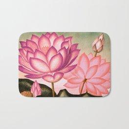 Pink Peach Sacred Egyptian Bean Temple of Flora Bath Mat