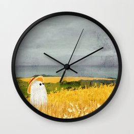 There's a ghost in the wheat field again... Wall Clock