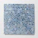 Blue Mosaic Pattern - Light by fischerfinearts