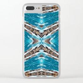 Seamless Kaleidoscope Colorful Pattern XXVIII Clear iPhone Case