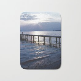 Breathing in - Romantic Sunset at Lake Bath Mat