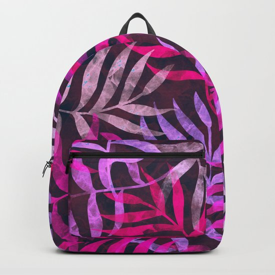 Watercolor Tropical Palm Leaves VI Backpack