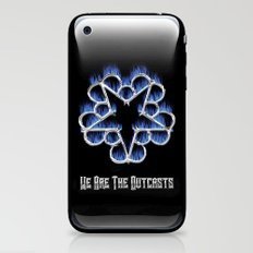 Fiery Chrome Black Veil Brides Star - We Are The Outcasts iPhone & iPod Skin