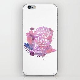 favorite things - juliette iPhone Skin