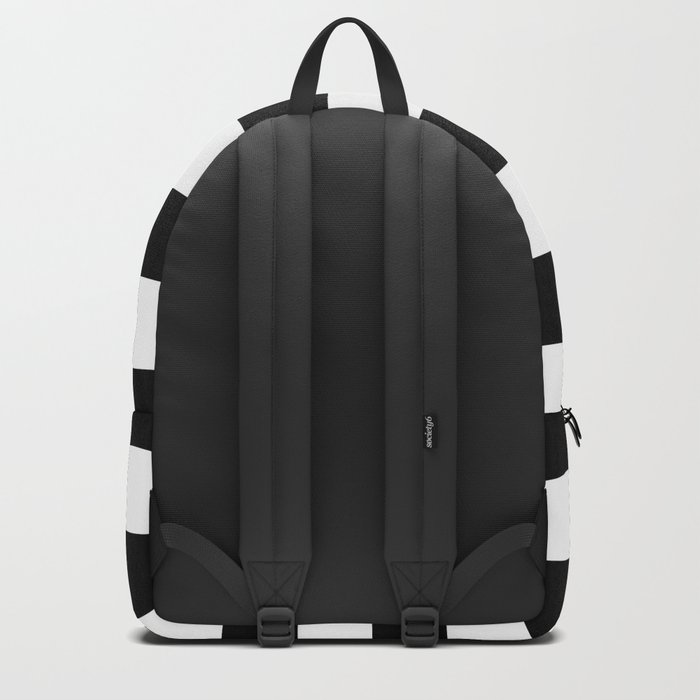 Stripe Black & White Horizontal Rucksack