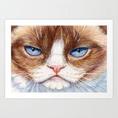 Grumpy kitty 866 Art Print