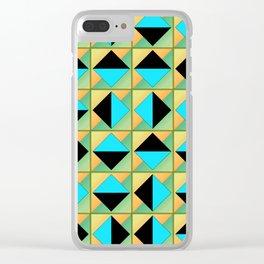 Algorithmic geometric art Clear iPhone Case