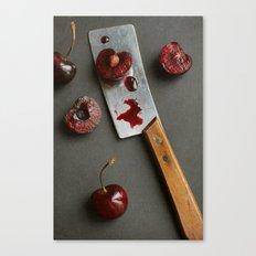 Cherries and Mini Cleaver Canvas Print