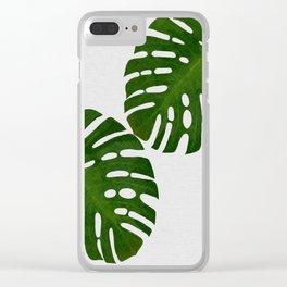 Monstera Leaf II Clear iPhone Case