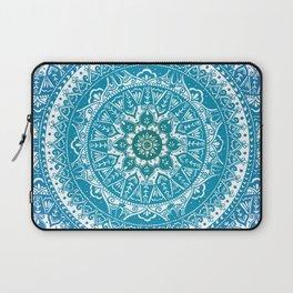 Aquamarine Mandala Pattern Laptop Sleeve