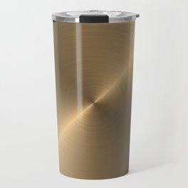 Circular metal brushed texture Travel Mug