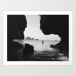 Woman In The Shallow Art Print