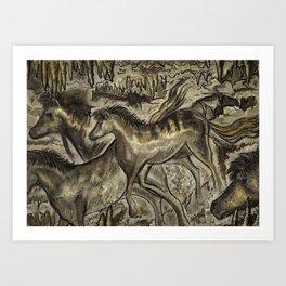 Wild Horse Cavern Art Print