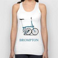 brompton Tank Tops featuring Brompton Bike by Wyatt Design