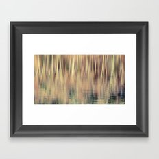 Abstract Trees Vintage Style Framed Art Print