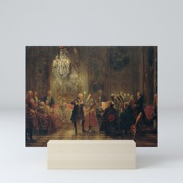 Adolph von Menzel - Concert for Flute with Frederick the Great in Sanssouci (1852) Mini Art Print