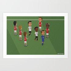Guard of Honour - Arsenal v Manchester United Art Print