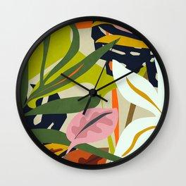 Jungle Abstract 2 Wall Clock