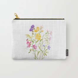 yellow pink white and  purple windflowers 2020 Carry-All Pouch
