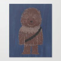 chewbacca Canvas Prints featuring Chewbacca by The Naptime Artist