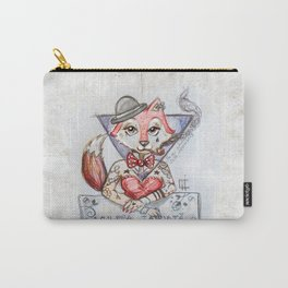 Tattoed Fox Carry-All Pouch