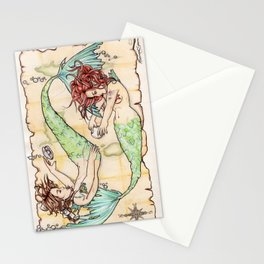 Pisces - The Merfolk  Stationery Cards