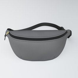 Solid Elephant Gray Grey Fanny Pack