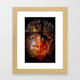"Steve Bannon: ""Darkness is good. Dick Cheney. Darth Vader. Satan. That's power."" Framed Art Print"