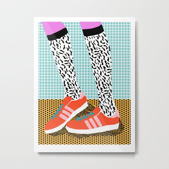 Spiffy - shoes art print memphis design style modern colorful california socal los angeles brooklyn  Metal Print