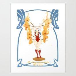 circus series -the fire eater- Art Print