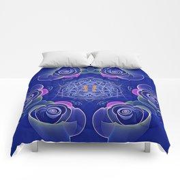 Blue Rosettes Comforters