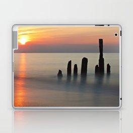 Groyne and sunset on the Baltic Sea coast Laptop & iPad Skin