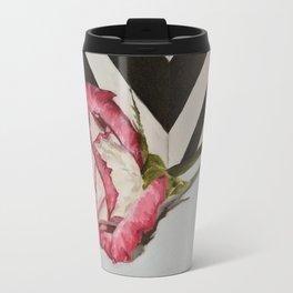 a rose Travel Mug
