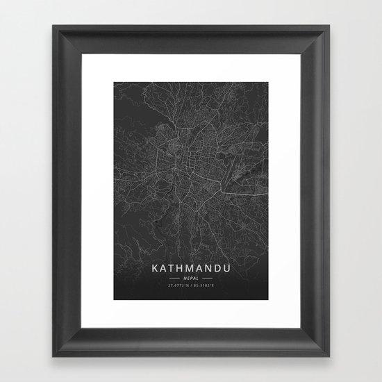 Kathmandu, Nepal - Dark Map by designermapart
