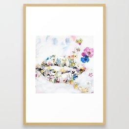 Gaudi Pillow Kiss Framed Art Print
