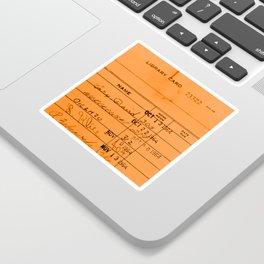 Library Card 23322 Orange Sticker