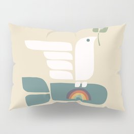 Peace dove and rainbow bomb Pillow Sham