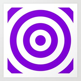 Target (Violet & White Pattern) Art Print