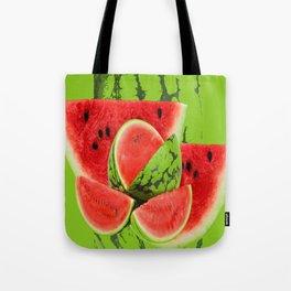 RED WATERMELON GREEN PICNIK ART Tote Bag