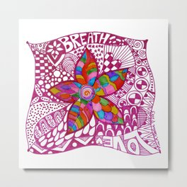 Breathe Love Metal Print