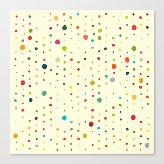 retro rain spots cream Canvas Print