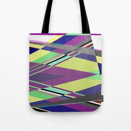 Crossed Paths - abstract, geometric, intersecting pastel shapes Tote Bag