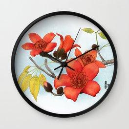 Tree Cotton Flower (Common Bombax) Wall Clock