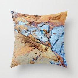 Rock stratum Throw Pillow