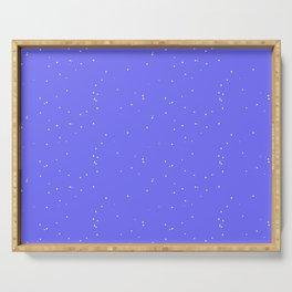 Lavender Blue Shambolic Bubbles Serving Tray