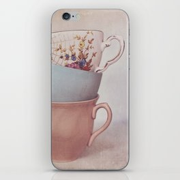 Vintage teacups iPhone Skin