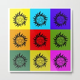 Supernatural Color Block Metal Print