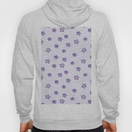 Abstract lilac violet lavender modern floral pattern Hoody